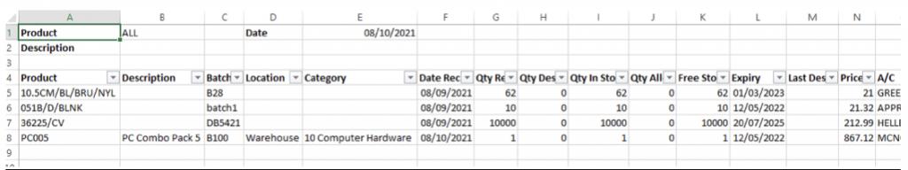 BatchRecorder Excel Export